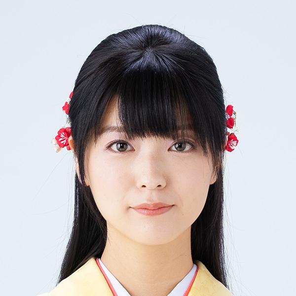 清楚系ストレートハーフアップヘア 卒業袴レンタル きもの鈴乃屋